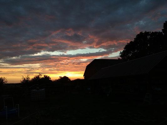 Einige der tollen Sonnenuntergänge im Sommer 2018