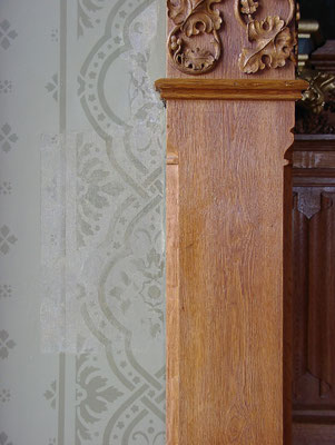 rekonstruierte Wandgestaltung (Schablonenmalerei) nach Befund
