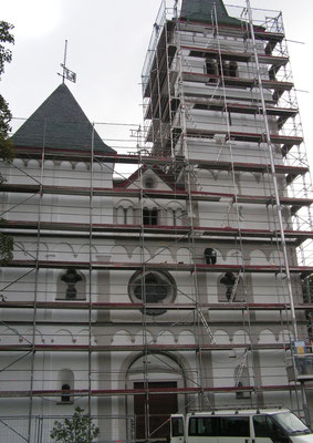 Fassadenanstrich 2008 mit Silikatfarbe