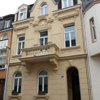 Fassadenanstrich 2013 mit Sol-Silikatfarbe