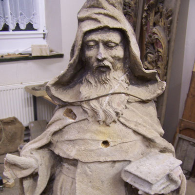 Hl. Antonius vor der Restaurierung