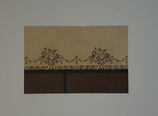 freigelegte Wandgestaltung in einem  Gründerzeithaus Bonn