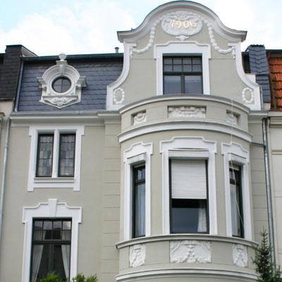 Fassadenanstrich 2001 mit Silikatfarbe