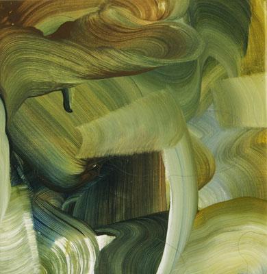 8 colors and lines #2, técnica mixta sobre tela, 40 x 40 cm.