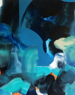 8 colors and 2 cut out #2, técnica mixta sobre tela, 97 x 72 cm.