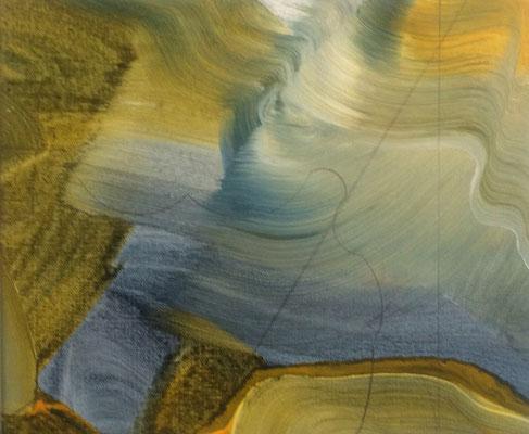 8 colors and lines #4, técnica mixta sobre tela, 24 x 30 cm.