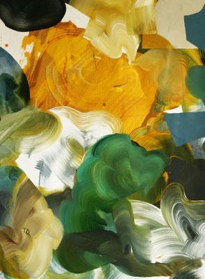 8 colors and 2 cut out #9, técnica mixta sobre tela, 97 x 72 cm.