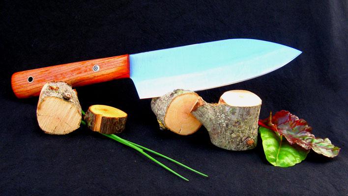 Großes Küchenmesser, Stahl: Kugellagerstahl, Griffmaterial: Cocobolo