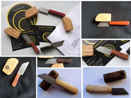 Tequandala Minis! Kleine, praktische Messer mit einem starken Neodym-Magneten in der Holzhülle: ein Kühlschrankmagnet der besonderen Art!
