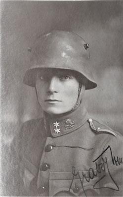Herbert Gratzy, Kriegsjahr 1918.