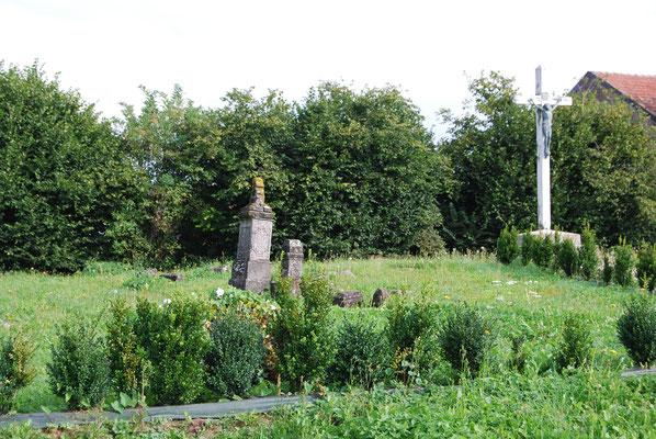 Le cimetière resté en l'état depuis la première guerre mondiale