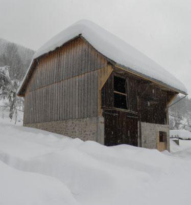 Patrimoine-bâti-montagne-French-Alpine-Barn-Alpenscheune