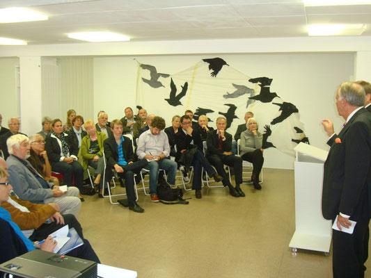 Es folgte eine anregende Diskussion zwichen den anwesenden Kulturschaffenden- und Förderern mit dem Kulturstaatsminister Naumann und PSts Ferlemann