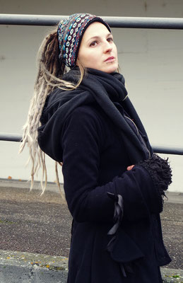 Dreadtube blue ethno, winterwear