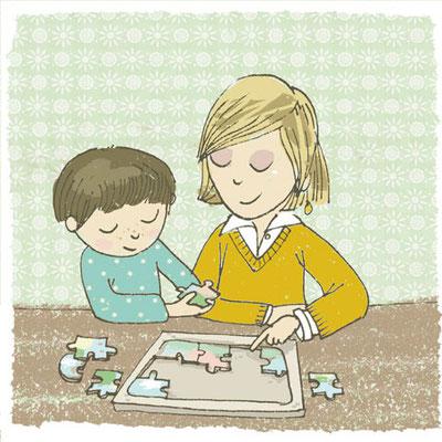 Illustration: Interaktion mit Lehrperson