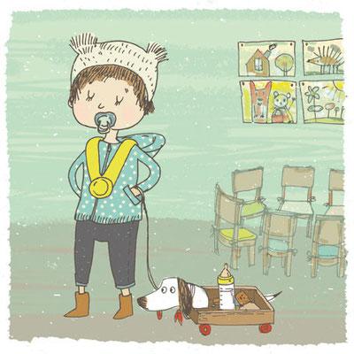 Illustration: Nuggi im Kindergarten
