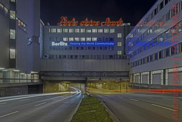 Nord-Süd-Fahrt: beliebtes Fotomotiv bei Nacht