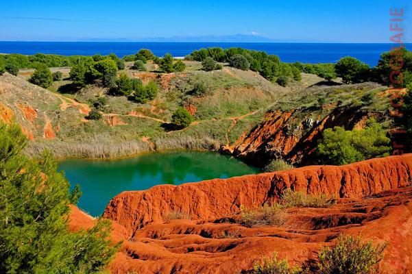 Die Cava di Bauxite in der Umgebung von Otranto
