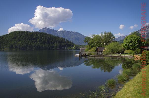 Wolkenspiegelung am Altausseer See