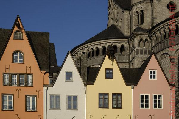 Kölner Altstadt: Fischmarkt mit Groß St. Martin
