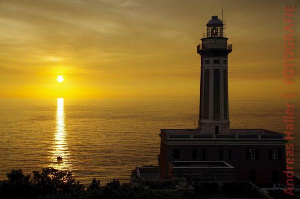 Wenn bei Capri die Sonne im Meer versinkt