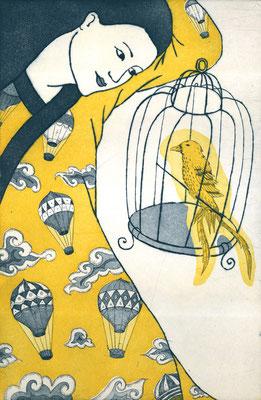 """""""La Cage"""", eau-forte multi-plaques, 40 x 26 cm, édition de 5, 2015, 210€"""