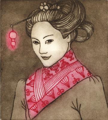 """""""Li-Jun"""", eau-forte, 28 x 26 cm, édition de 4, 2015."""