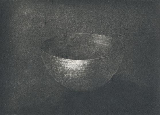 Le Bol, eau-forte et pointe sèche, 12x17 cm, édition de 7, 2016.