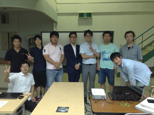 20130717 定例会合!ソニー生命 田中先生と。