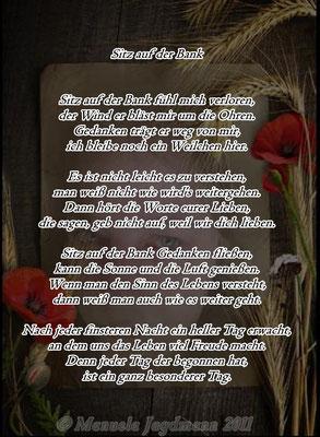 Dieses Gedicht entstand 2011 nach meiner Krebs-OP im Krankenhaus.