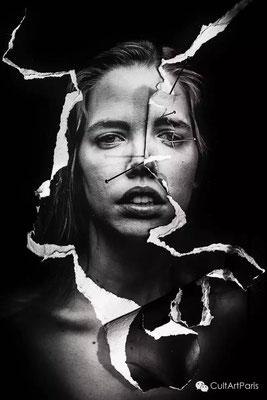 Assaf Matarasso 《伤痕-玛德琳》,2015年,纸上摄影,钡艺术 哈内姆勒 315g 版本2/6,90 x 60 cm