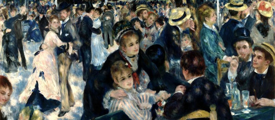 Auguste Renoir, Bal du moulin de la Galette, 1876, huile sur toile, 1,31 x 1,75m, Musée d'Orsay, Paris