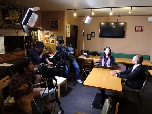 ケーブルテレビJ:COMの取材。On TV shooting