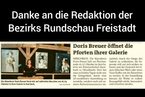 Vielen Dank an die Bezirksrundschau Freistadt.