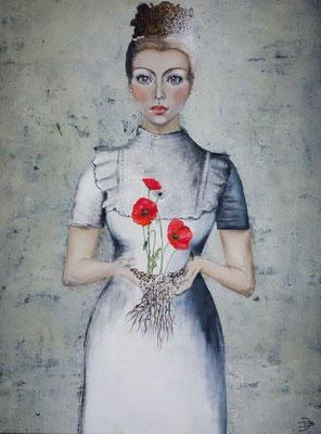 """poppy""  90 x 120 cm   Oil on canvas    2019"