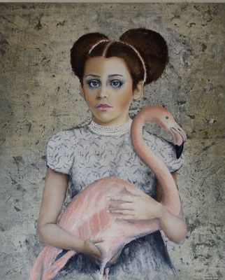 """verklärt in rosa"" 80 x 100 Oil on canvers  sold 🔴"