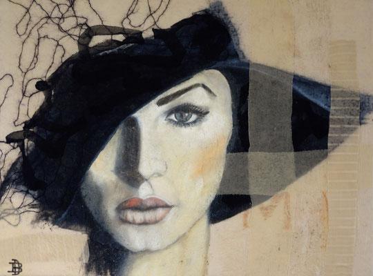 """chapeau"" 60 x 80 cm from the series la femme sold🔴"