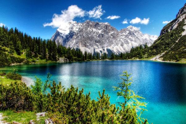 Zugspitze und Seeeibsee