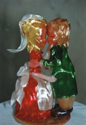 Seidenzucker Hochzeitspaar, Tracht
