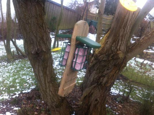 Spechtenbistro doppel für Vögel im Garten im HangGarten