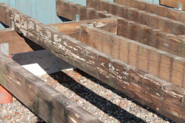 Die alte Holzkonstruktion war weitesgehend die Planungsvorgabe für die neue Konstruktion