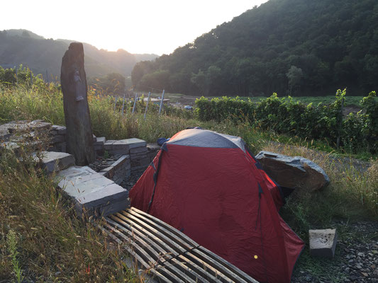 Morgenstimmungen bereichern den Morgen. Der Blick zeigt Richtung Marienthal ...