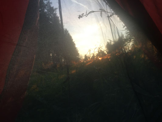 Ich empfinde Glückgefühle im Zelt ...