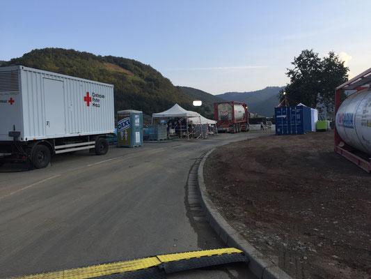 Für dieses Wasserwerk arbeiten in erster Linie Unternehmen, aber auch das Rote Kreuz zusammen.