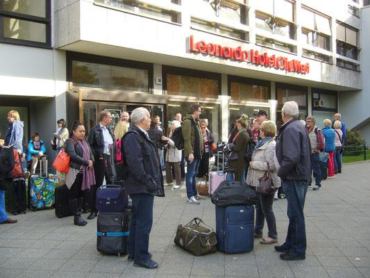 Nach dem Besuch des Museums THE STORY OF BERLIN wurde im Hotel eingecheckt