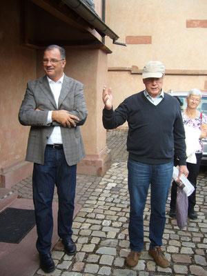 Begrüßung durch den Kiedricher Bürgermeister Steinmacher