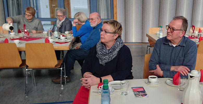 Unsere Gastgeber die Doppelspitze des SPD Ortsvereins Born, Barbara Wieder und Dirk Rost