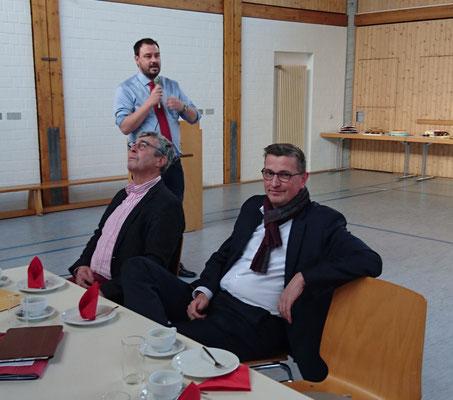 Unser Gast aus Berlin, BTA Martin Rabanus und am Mikrofon unser Gast aus Hohenstein, BM Daniel Bauer