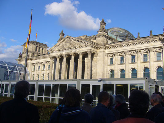 Dann endlich der ersehnte Besuch des Reichstagsgebäude