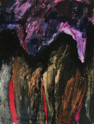 The Alps 1 / acrylic, ink on paper 50x70cm, 1996